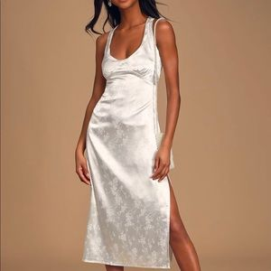 Lulus new with tags white satin dress